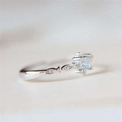 Icy Sky Crystal Ring