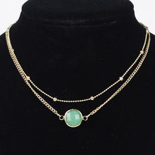 Load image into Gallery viewer, Necklace - 2 Layers Crystal Choker Necklace