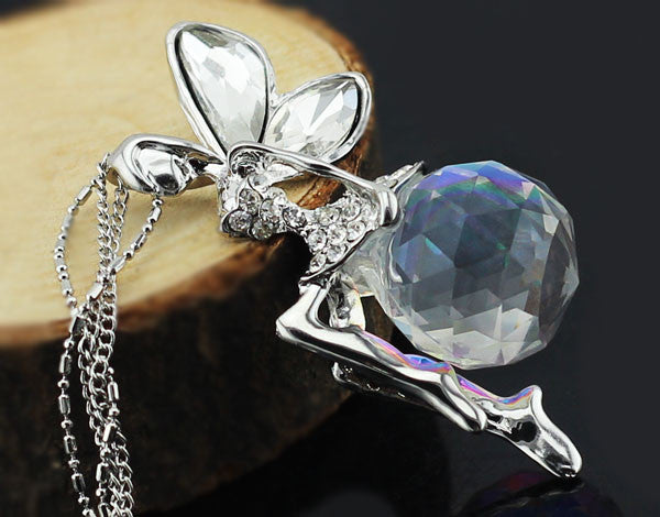 Austrian crystal angel fairy pendant the enchanted forest necklace austrian crystal angel fairy pendant aloadofball Image collections