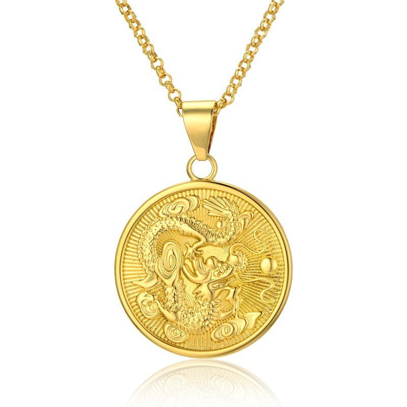 j in metallic brandt lyst chinese zodiac necklace normal product jewelry christine gold dog pendant