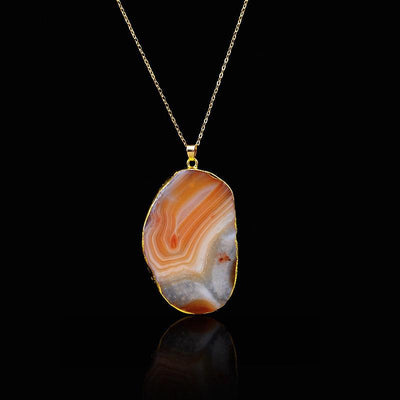 Necklace - Colorful Irregular Shaped Agate Necklace