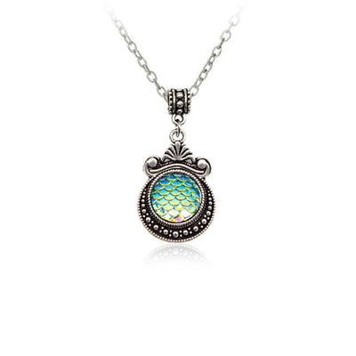 Necklace - Colorful Mermaid Scale Necklace
