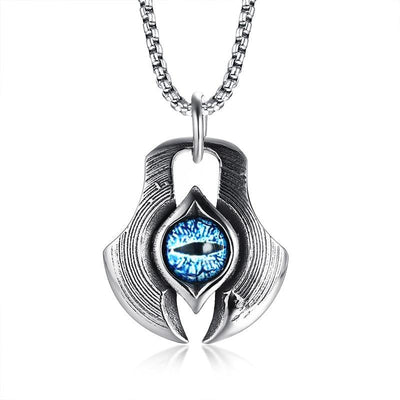 Necklace - Dragon's Eye Stainless Steel Necklace