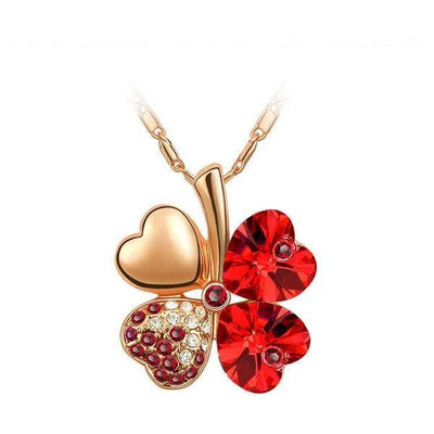 Necklace - Four Leaves Clover Heart Necklace