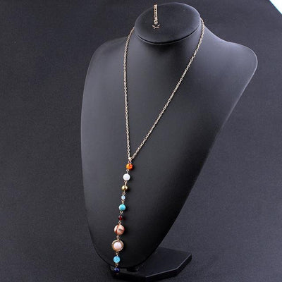 Necklace - Gemstone Solar System Necklace