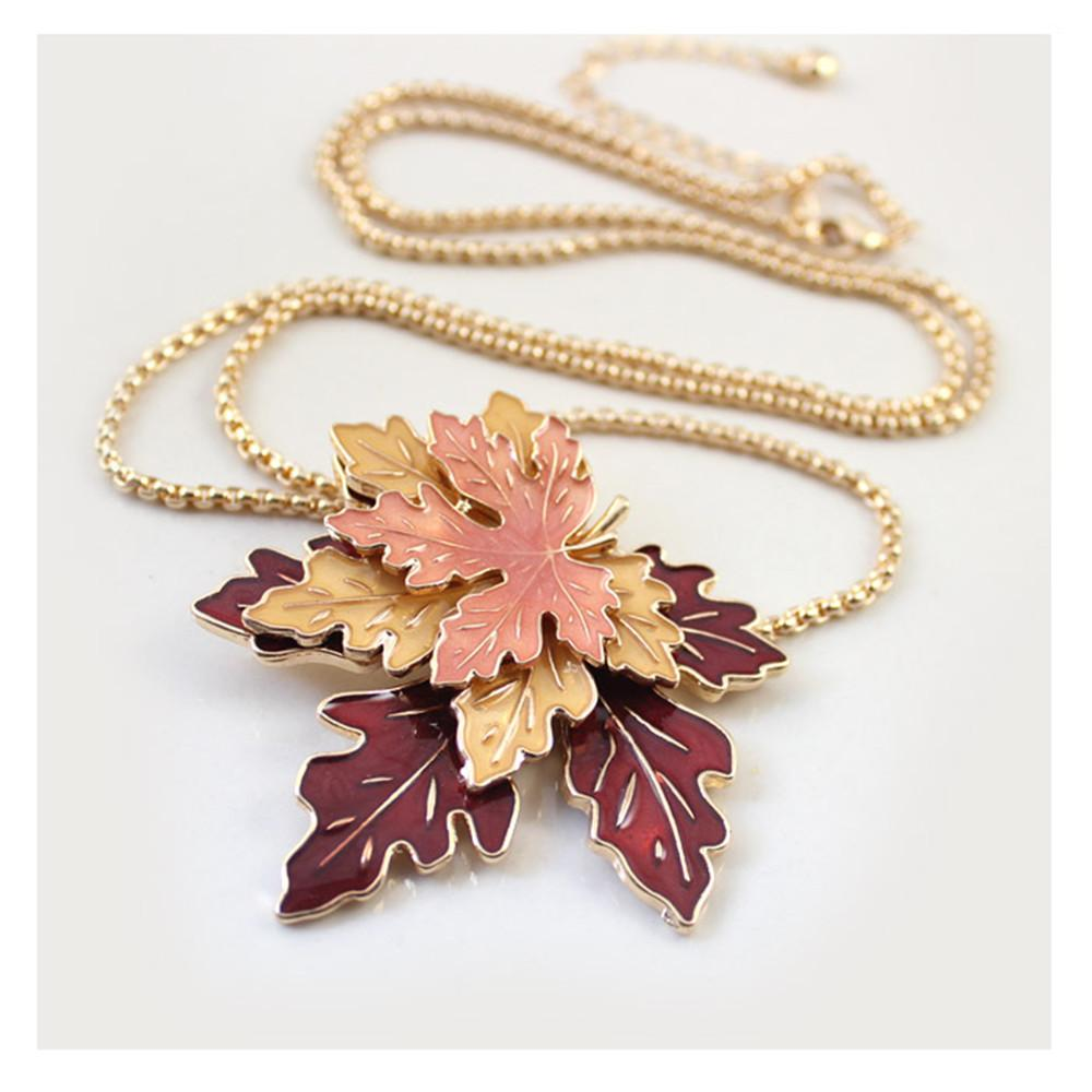 necklace leaf mapleleafnecklace louiseannnedesigns maple products