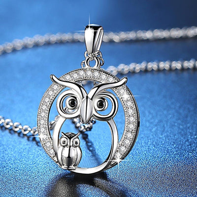 Necklace - Lovely Owl Crystal Necklace