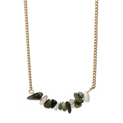 Necklace - Natural Stone Choker Necklace