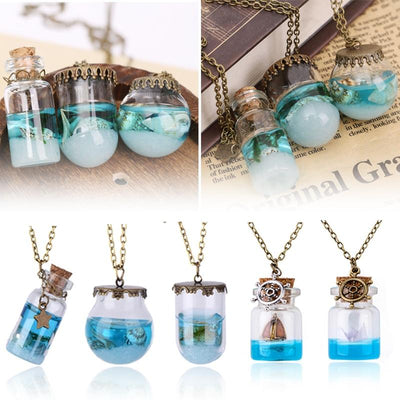 Necklace - Ocean Drift Bottle Lucky Necklace