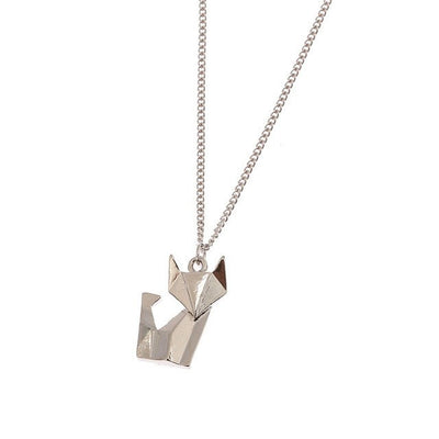 Necklace - Origami Cat Necklace