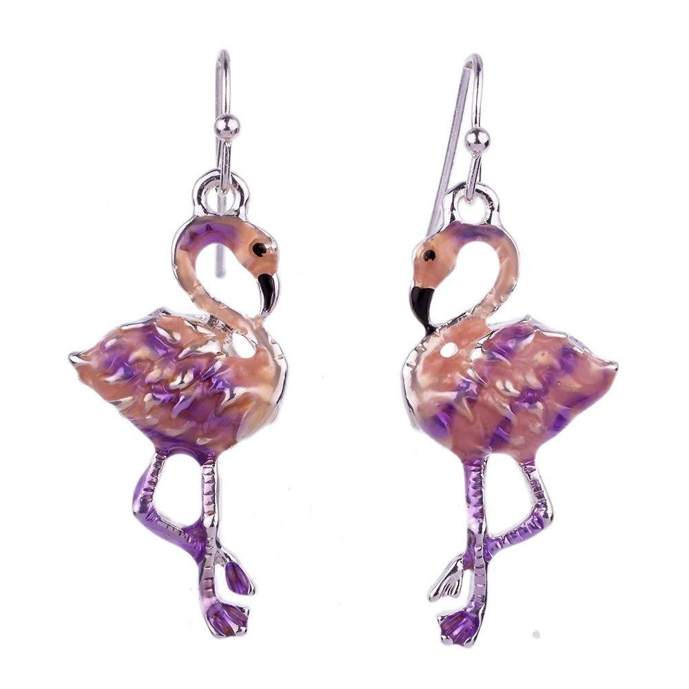 Necklace  Pink Flamingos Necklace & Earrings Set