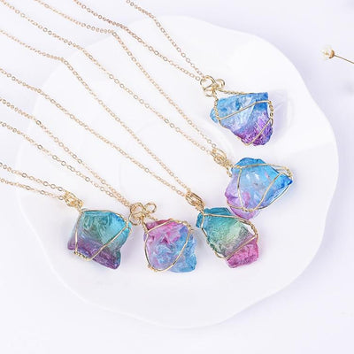 Necklace - Rainbow Crystal Stone Necklace