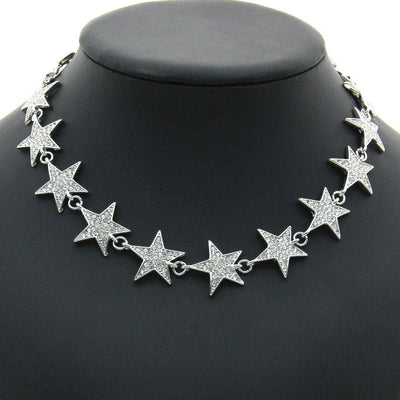 Necklace - Rhinestone Stars Necklace