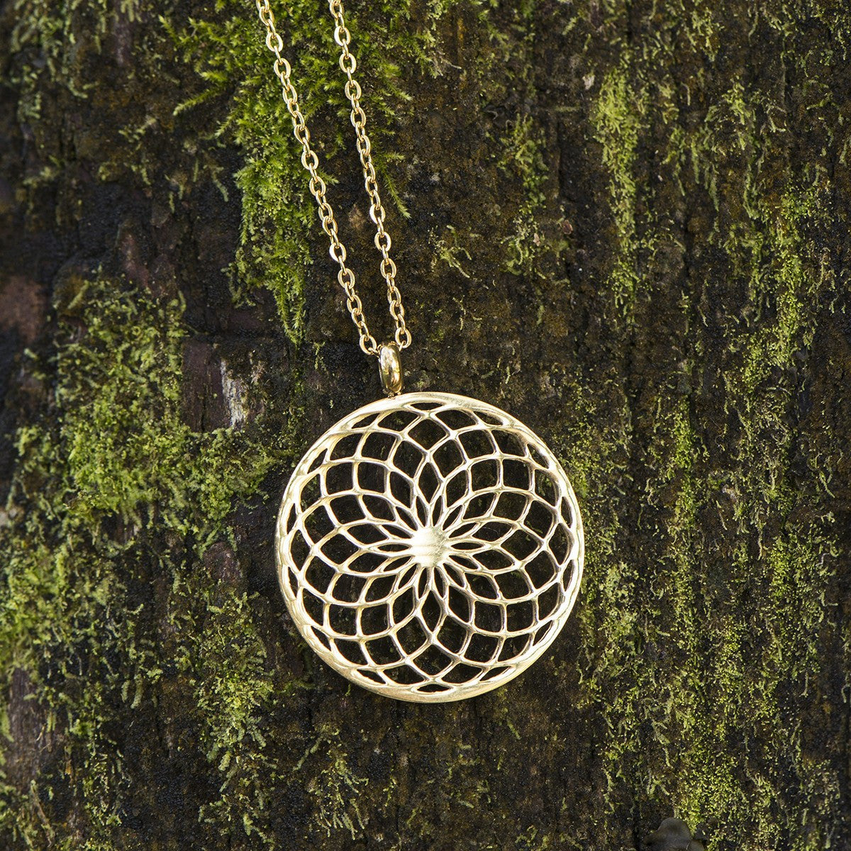 Sacred geometry sunflower spiral necklace the enchanted forest necklace sacred geometry sunflower spiral necklace aloadofball Gallery