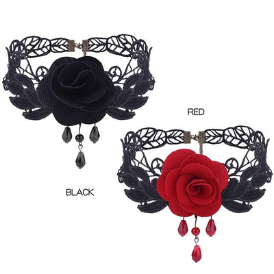 Necklace - Sensual Rose Lace Choker Necklace