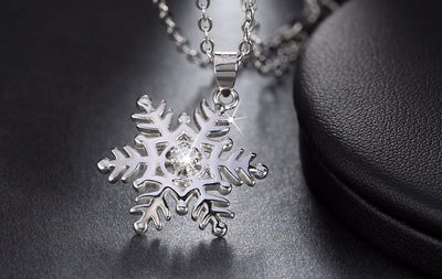 Necklace - Snowflake Sterling Silver Necklace