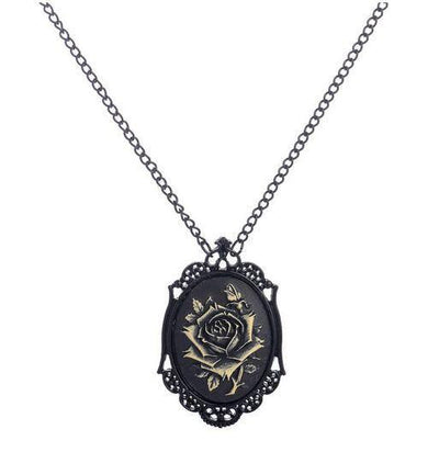 Necklace - Steampunk Gothic Rose Necklace