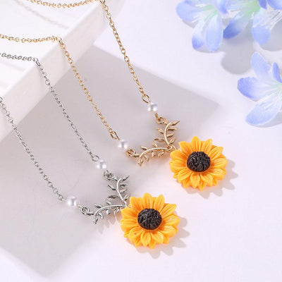 Necklace - Sunflower Power Pearl Necklace