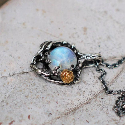 Necklace - The Enchanted Garden Moonstone Necklace