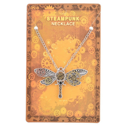 Necklace - Vintage Style Steampunk Dragonfly Necklace