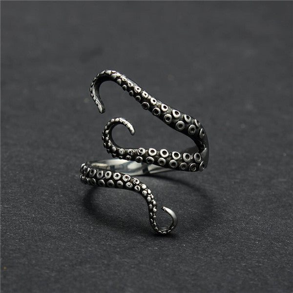 Gothic Style Octopus Wrap Ring