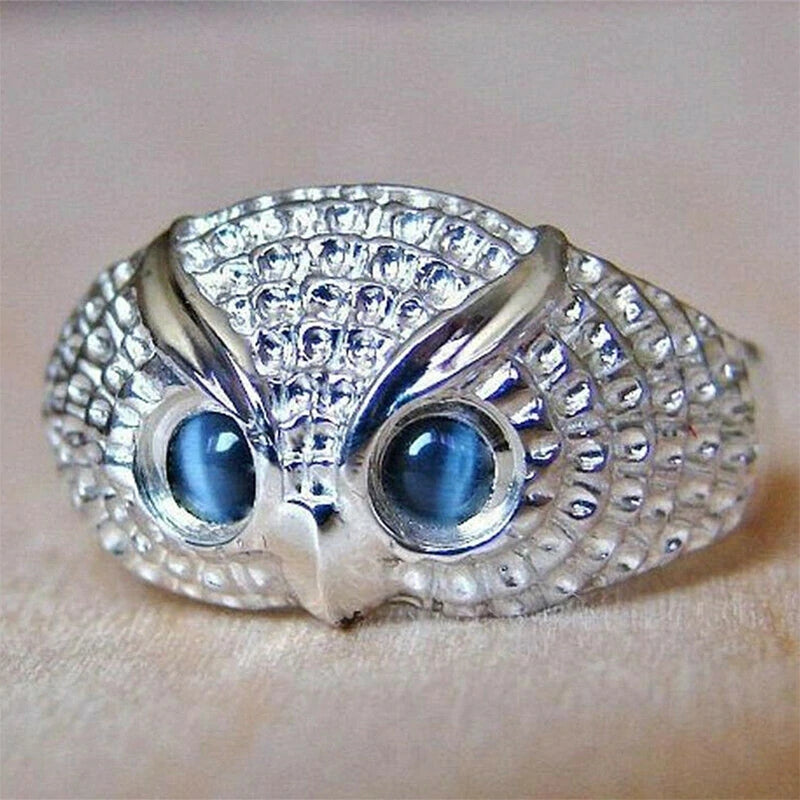Lovely Owl Crystal Ring