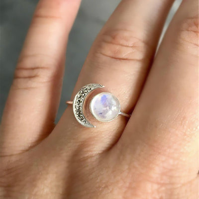 Celestial Moonstone Princess Ring