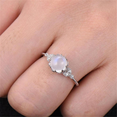 Vintage Style Monarchy Moonstone Ring