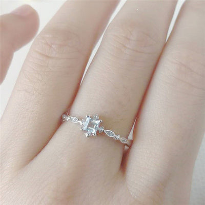 The Icy Sky Crystal Ring
