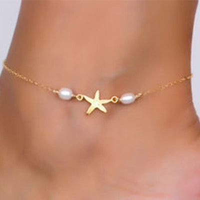 Starfish & Pearls Anklet