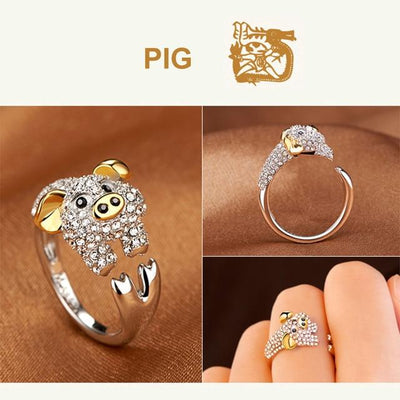 Ring - Animal Zodiac Sign Silver Ring