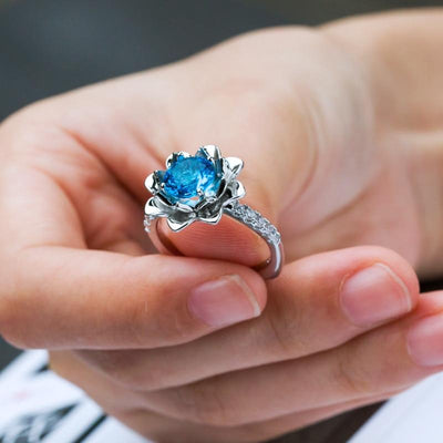 Ring - Blue Lotus Botanical Ring