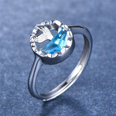 Ring - Blue Sea Mermaid Silver Ring