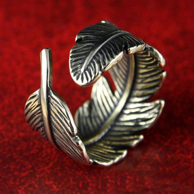 Ring - Bohemian Style Feather Wrap Ring