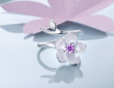 Ring - Cherry Blossom Sterling Silver Ring