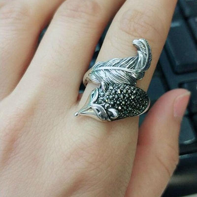 Ring - Crystal Fox Sterling Silver Wrap Ring