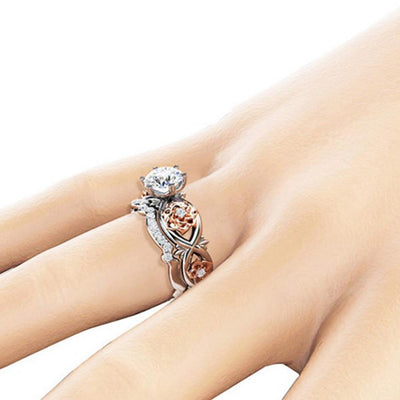 Ring - Crystal Rose Ring Set