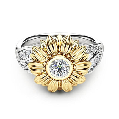 Ring - Crystal Sunflower Ring
