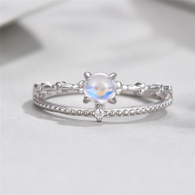Ring - Exquisite Moonstone Silver Ring