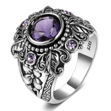 Load image into Gallery viewer, Ring - Flower Purple Amethyst Ring
