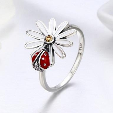 Ring - Ladybug Wonderland Sterling Silver Ring