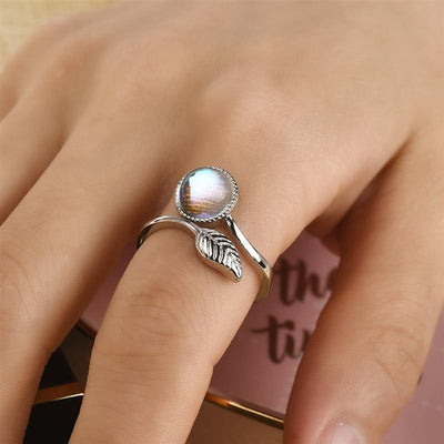 Ring - Leaf Moonstone Wrap Ring