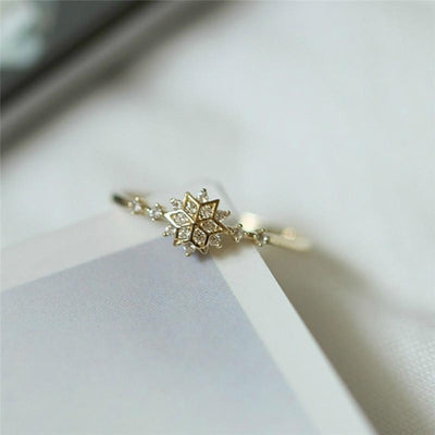Ring - Little Snowflake Golden Ring