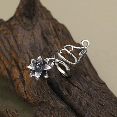 Ring - Lucky Flower Sterling Silver Wrap Ring