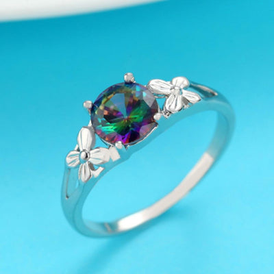 Ring - Mystic Rainbow Flower Ring