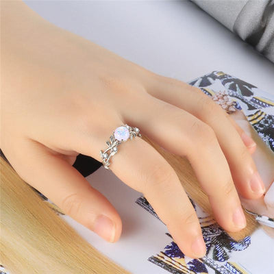 Ring - Opal Flower Stainless Steel Ring