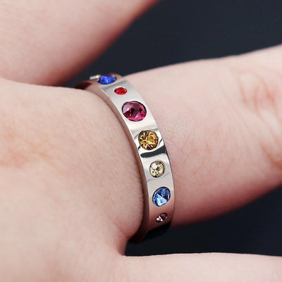 Ring - Solar System Titanium Steel Ring