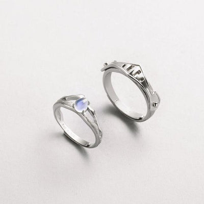 Ring - The Princess & Knight Moonstone Rings