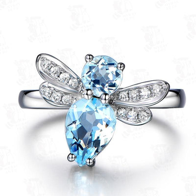Ring - Topaz Dragonfly Silver Ring