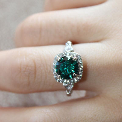 Ring - Vintage Style Green Crystal Ring